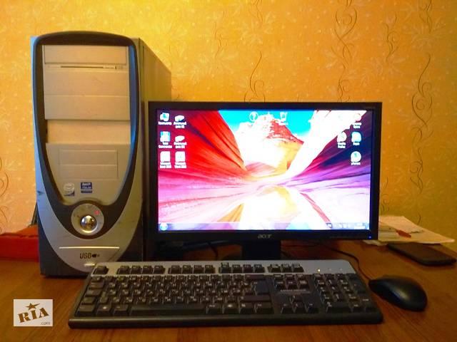 продам Продам 4-х ядерний комп'ютер з ЖК монітором бу в Чернігові