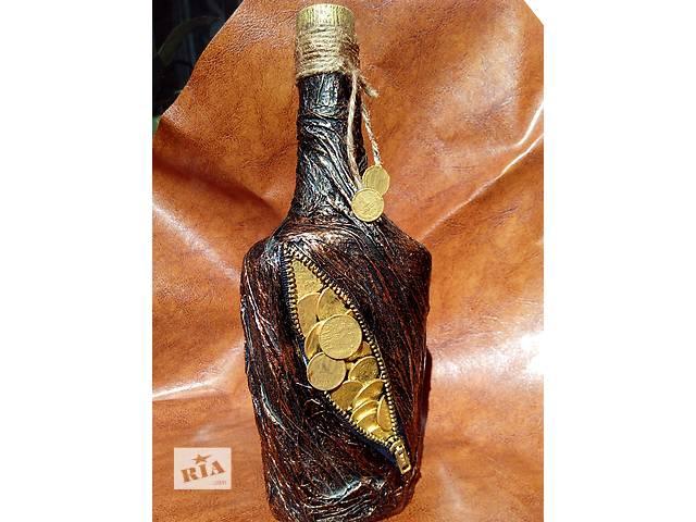 Декупаж бутылки декор денежная бутылка- объявление о продаже  в Херсоне