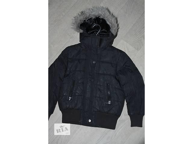 бу Демисезонная фирменная курточка черного цвета р-128/130 в Одессе