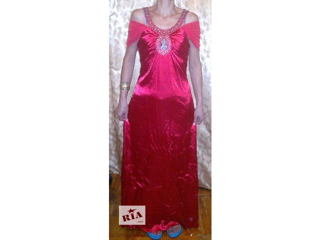 купить бу Дешево продается вечернее красное платье в пол в Киеве