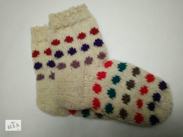 Дитячі в'язані шкарпетки з натуральної пряжі- объявление о продаже  в Новограді-Волинському