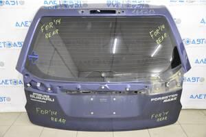 Дверь багажника голая Subaru Forester 14-18 SJ синий F9H 60809SG0209P разборка Алето Авто запчасти Субару Форестер