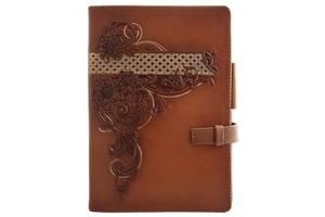 Ежедневник кожаный мягкий женский Астра/Винтаж 260019 15х21 см. светло-коричневый