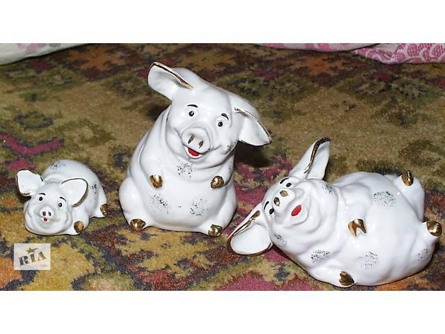 купить бу Фарфоровые статуэтки - три свинки в Киеве