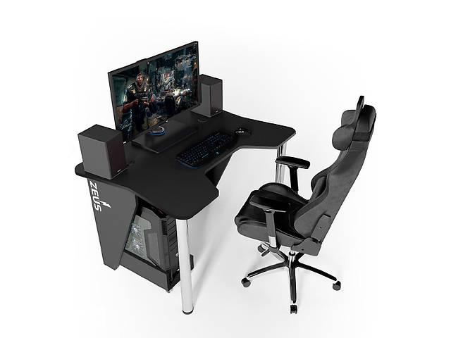 купить бу Геймерский игровой компьютерный прямой стол ZEUS™ / ЗЕУС™  IGROK / ИГРОК 3L с LED подсветкой в Киеве
