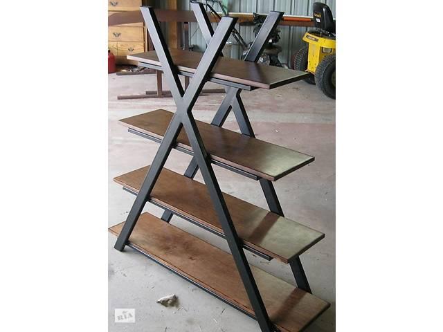 бу Книжная полка в стиле LOFT (Rack - 164). Мебель в стиле лофт от производителя для дома, кафе, офиса в Киеве