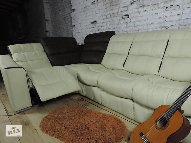 Кутовий шкіряний диван з реклайнером Comfy