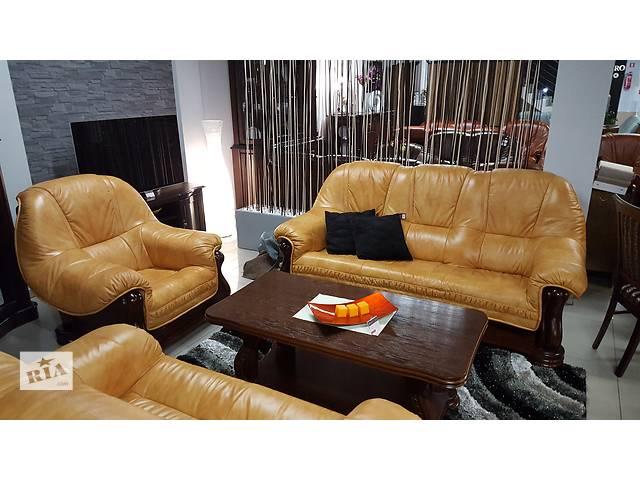 Новый кожаный диван и два кресла REMOS. Кожаная мебель, комплект, набор.- объявление о продаже  в Луцке