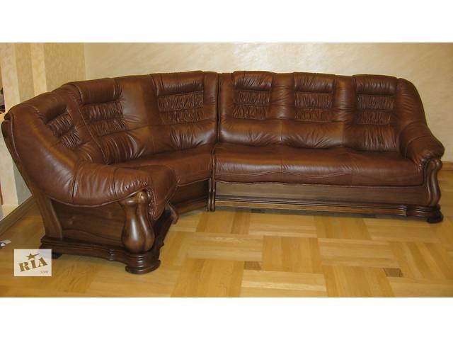 продам Новый кожаный угловой диван 3.1х2.6 м Maestro. Кожаная мебель с Европы, гарнитур, уголок! бу в Луцке