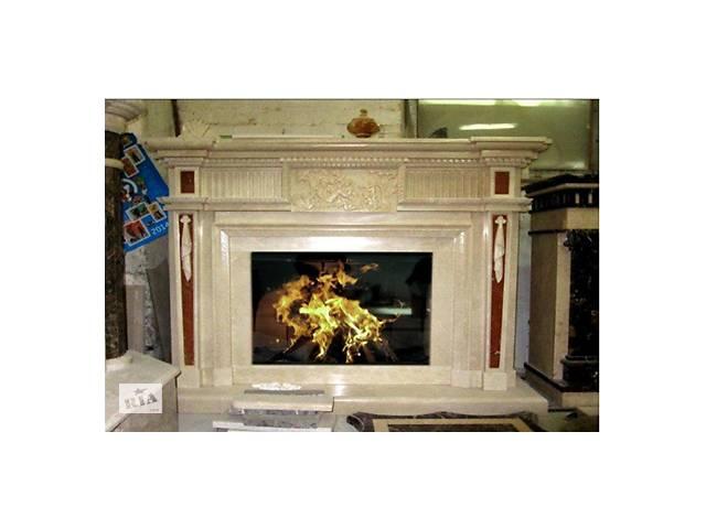 купить бу Продам Каминный портал из мрамора «Крема Марфил и Роджо Аликанте» в Киеве