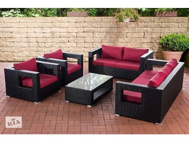 купить бу Садовый комплект мебели Lounge-Set Honolulu rubinrot черный / фуксия в Львове