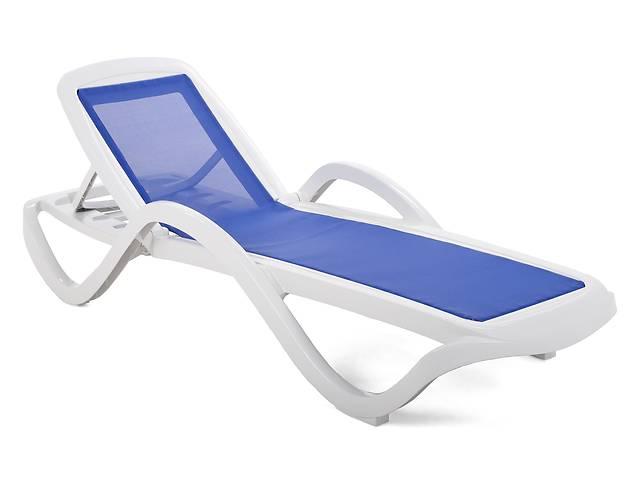 купить бу Садовый шезлонг, лежак пляжный HAVANA WHITE / BLUE. Отправка по Украине! в Львове