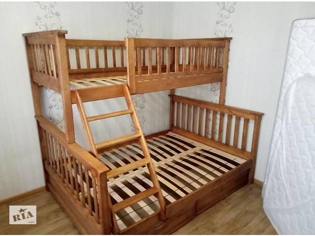 Трёхместная Кровать Жасмин деревянная 140, 120- объявление о продаже  в Василькове (Киевской обл.)