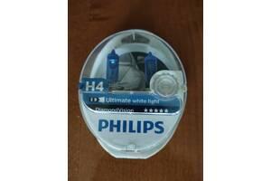 Галогенные лампы Philips H4 DiamondVision 12V 12342DVS2 (2шт)