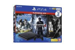 SONY PlayStation 4 Slim 500 GB + Horizon: Zero Dawn + The Last of Us Remastered + Uncharted 4