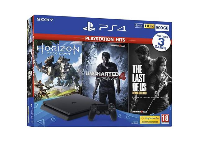 SONY PlayStation 4 Slim 500 GB + Horizon: Zero Dawn + The Last of Us Remastered + Uncharted 4- объявление о продаже  в Луцьку