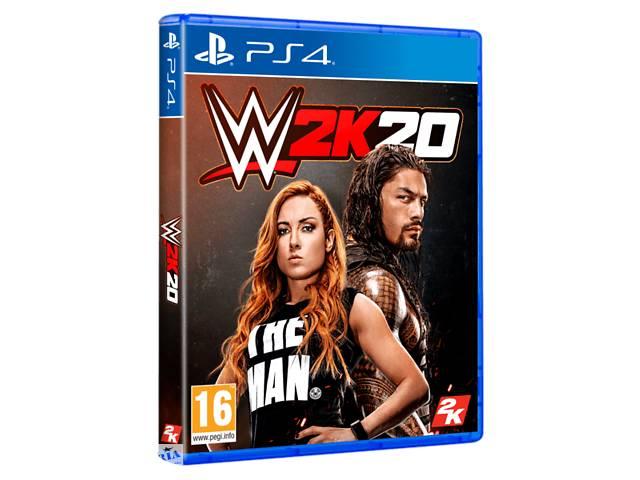 купить бу Игра WWE2K20 (PS4, Английский язык) в Киеве