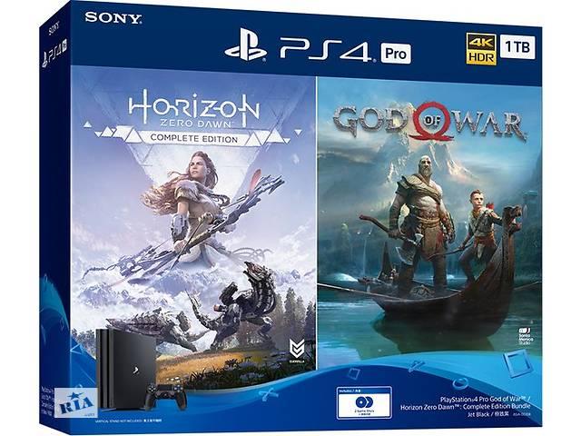 продам Игровая приставка SONY PlayStation 4 Pro 1Tb Black (God of War + Horizon Zero Dawn CE) (9994602) бу в Киеве
