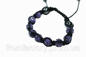 Браслет Шамбала (кружки Ø10мм):Фиолетовый