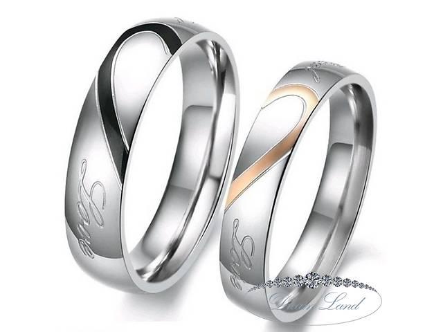 бу Парные кольца для влюбленных из нержавеющей медицинской стали. кольцо в Червонограде