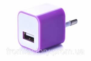 Блок питания 5Вт/1А (USB, разные цвета) 5:Фиолетовый