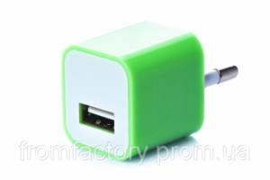 Блок питания 5Вт/1А (USB, разные цвета) 5:Салатовый