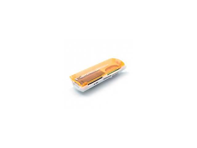 продам Кардридер универсальный 4в1 MERLION CRD-7OR TF/Micro SD, USB2.0, Orange, OEM бу в Киеве