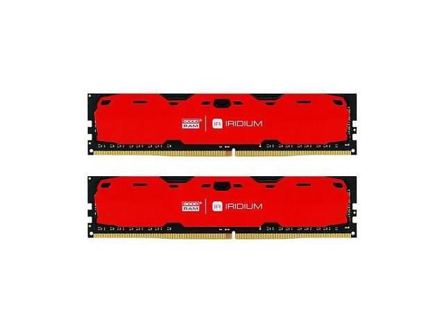 продам Модуль памяти для компьютера DDR4 16GB (2x8GB) 2400 MHz Iridium Red GOODRAM (IR-R2400D464L15S/16GDC) бу в Дубні (Рівненській обл.)