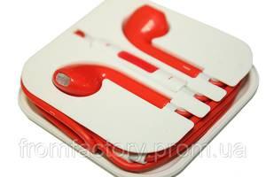 Наушники Apple EarPods с пультом дистанционного управления и микрофоном (цветные):Красные