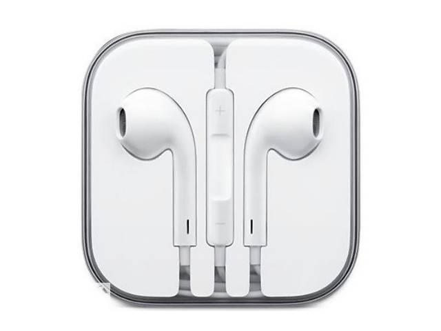 купить бу Наушники гарнитура для iPhone 4 4S 5 5S SE 6 6S Plus качество 1 в 1 как оригинал в Дубно