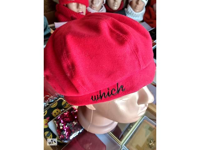 Корейська капелюх беретик з вишивкою- объявление о продаже  в Шостці