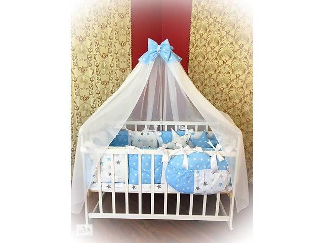 бу Детское постельное белье в кроватку ТМ Bonna Elite Голубое со звездами в Одессе