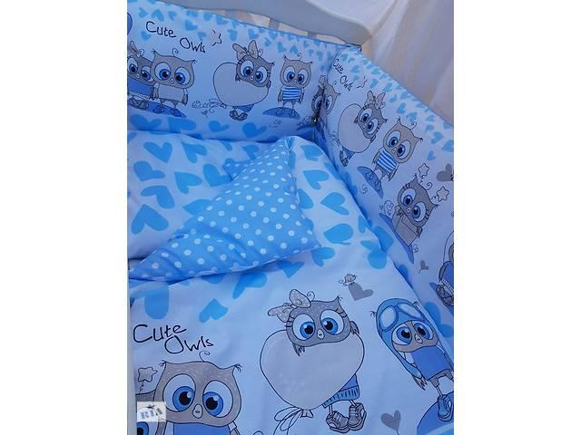 купить бу Детское постельное бельё в кроватку ТМ Bonna купон Голубое в Одессе