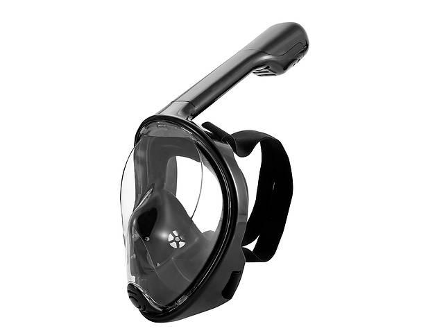 купить бу Маска для снорклинга подводного плавания ныряния 1639 S/M Черный (1em_004912) в Києві