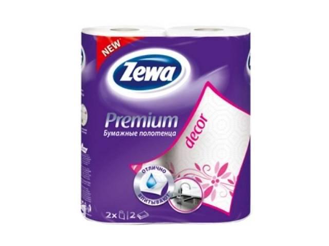 купить бу Бумажные полотенца Zewa Premium 2-слойные Декор Белые 2 шт (7322540662146) в Києві