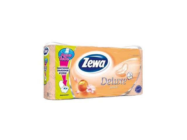 продам Туалетная бумага Zewa Deluxe 3-слойная Персик 8 шт (9011111035721) бу в Киеве