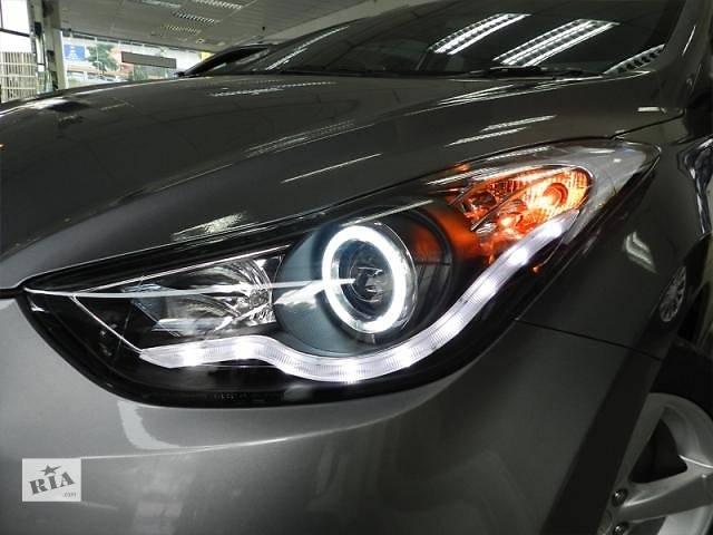 купить бу  Передние фары тюнинг оптика Hyundai Elantra MD Хюндай Елантра МД в Луцке