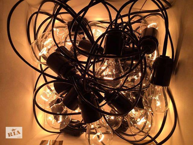 бу Гирлянда с лампами 10м в Днепре (Днепропетровск)