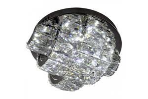 Люстра потолочная хрустальная Led с пультом C8772/350 Хром 19х35х35 см.