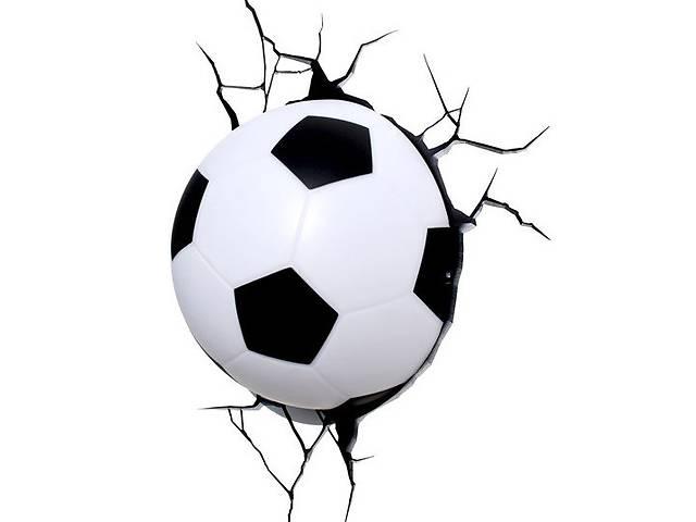 бу Світильник Футбольний м'яч 3D в стіні (109-1083294) в Києві
