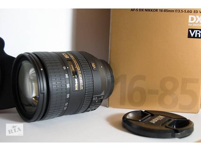 купить бу объектив Nikon AF-S DX Nikkor 16-85mm f/3.5-5.6G ED VR в Николаеве