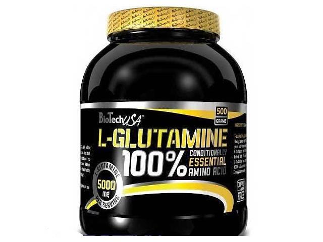 бу Глютамин BioTech100% L-Glutamine500 g unflavored в Мариуполе