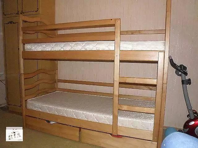 бу Двох'ярусне ліжко Софія з ящиками і ортопедичним матрацами в Киеве