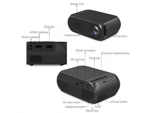 бу Мини проектор портативный мультимедийный Led Projector YG320 в Киеве