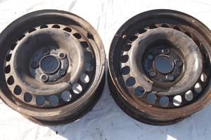 Стальные диски наR 15 для Mercedes C 200 1998г цена 600гр заодин привезенные из ес с резиной не катаные не гнутые гарантия