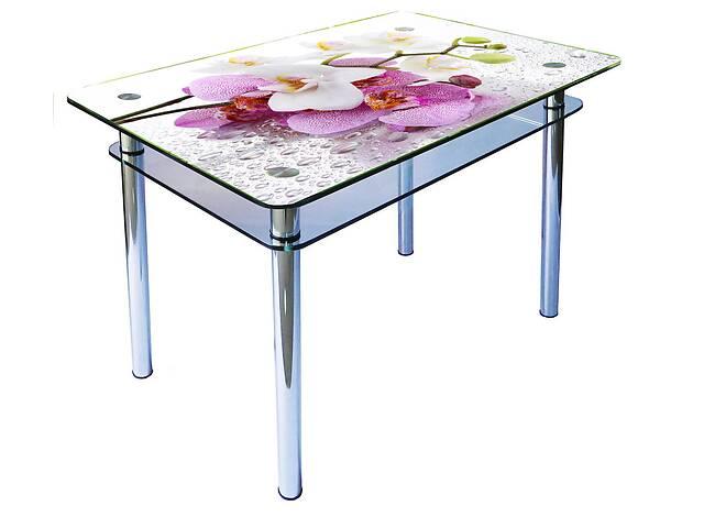 купить бу Стеклянные обеденные столы на хромированных ногах в Виннице