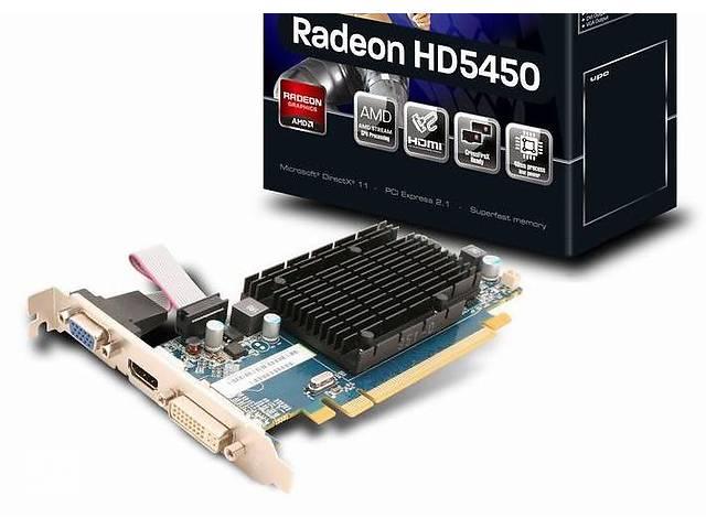 купить бу Видеокарта с HDMI, VGA, DVI 1GB AMD Radeon HD 5450 DirectX 11 в Полтаве