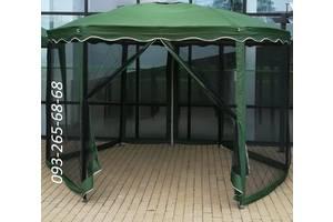 Садовый павильон тканевый с москитной сеткой, полиэстер,шатер,тент. Шестигранный.