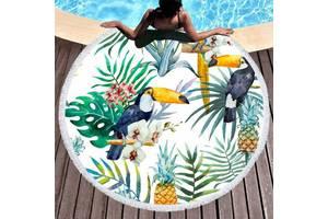 Пляжный коврик с рисунком