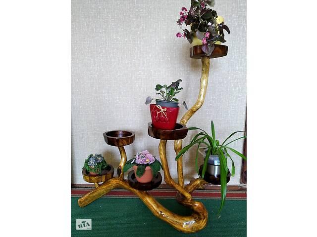 купить бу декоративная подставка для цветов из коряги в Харькове